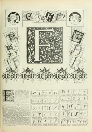 Nouveau Larousse Illustre Dictionnaire Universel Encyclopedique Lettering Alphabet Antique Prints Alphabet Print