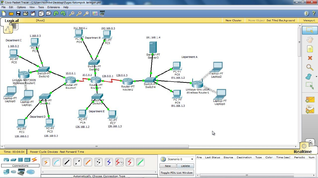 Create Computer Network With Cisco Packet Tracer 20 K 233 P