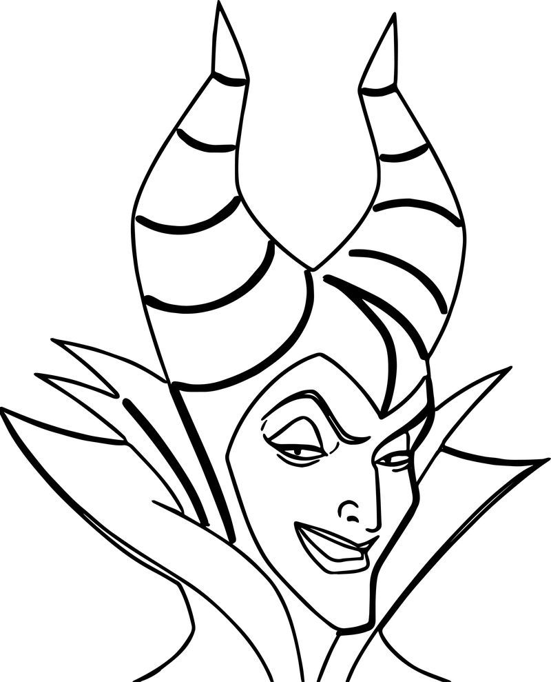Maleficent Face Coloring Page Disney Coloring Sheets