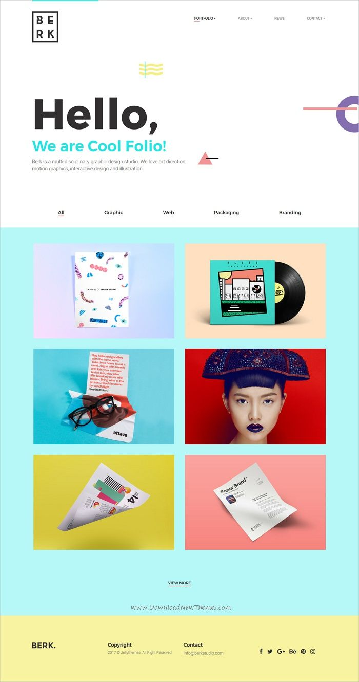 Berk - Minimal & Cool Portfolio Template