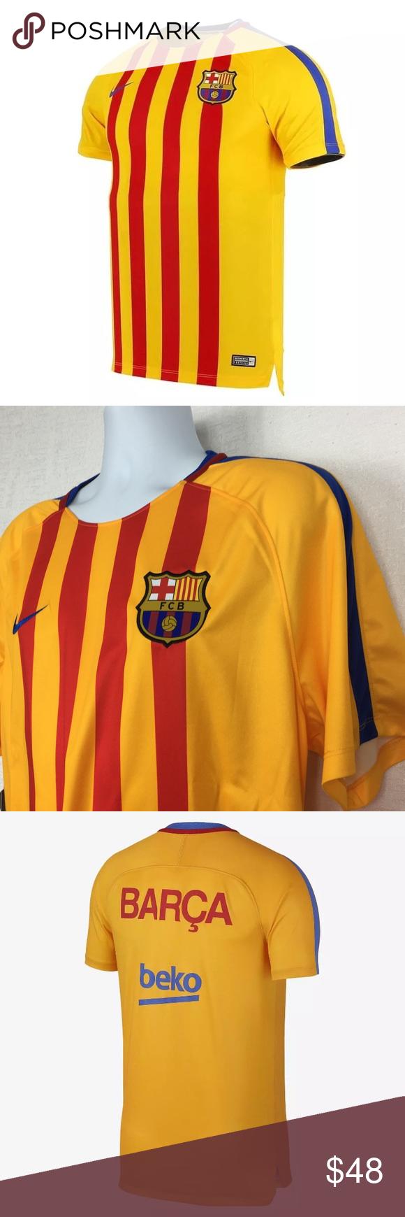 5fdac0403 Nike FC Barcelona Dry Squad Jersey Sz XL Nike FC Barcelona Dry Squad Mens  Gold Training