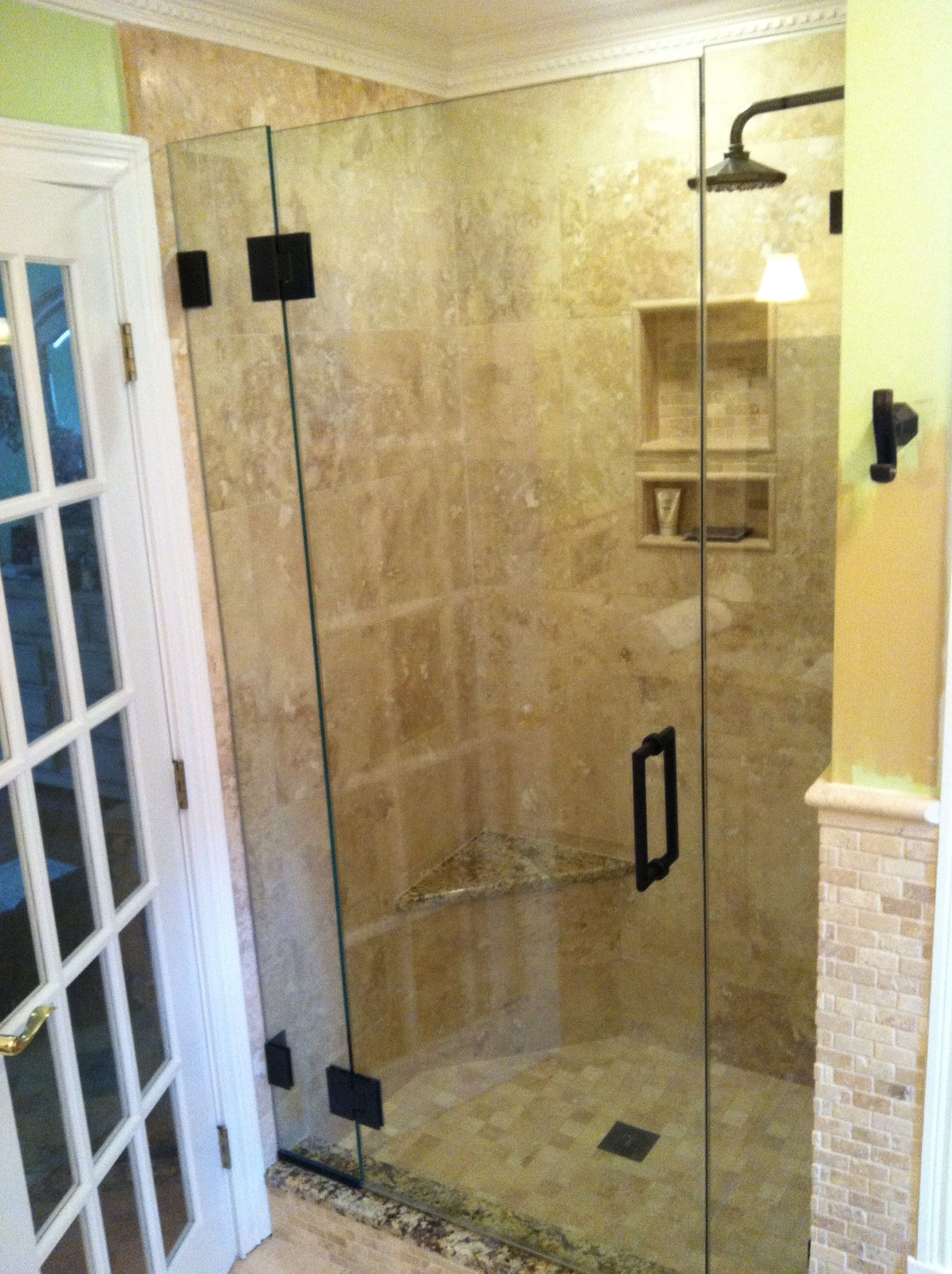 Glass shower door | for my home | Pinterest | Shower enclosure ...