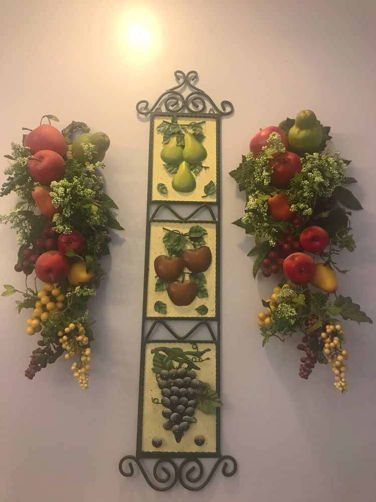 Home Interiors Large 3 Pcs Lot Of Fruit Wall Decor Home Kitchen Collectibles Ebay House Interior Kitchen Decor Interior