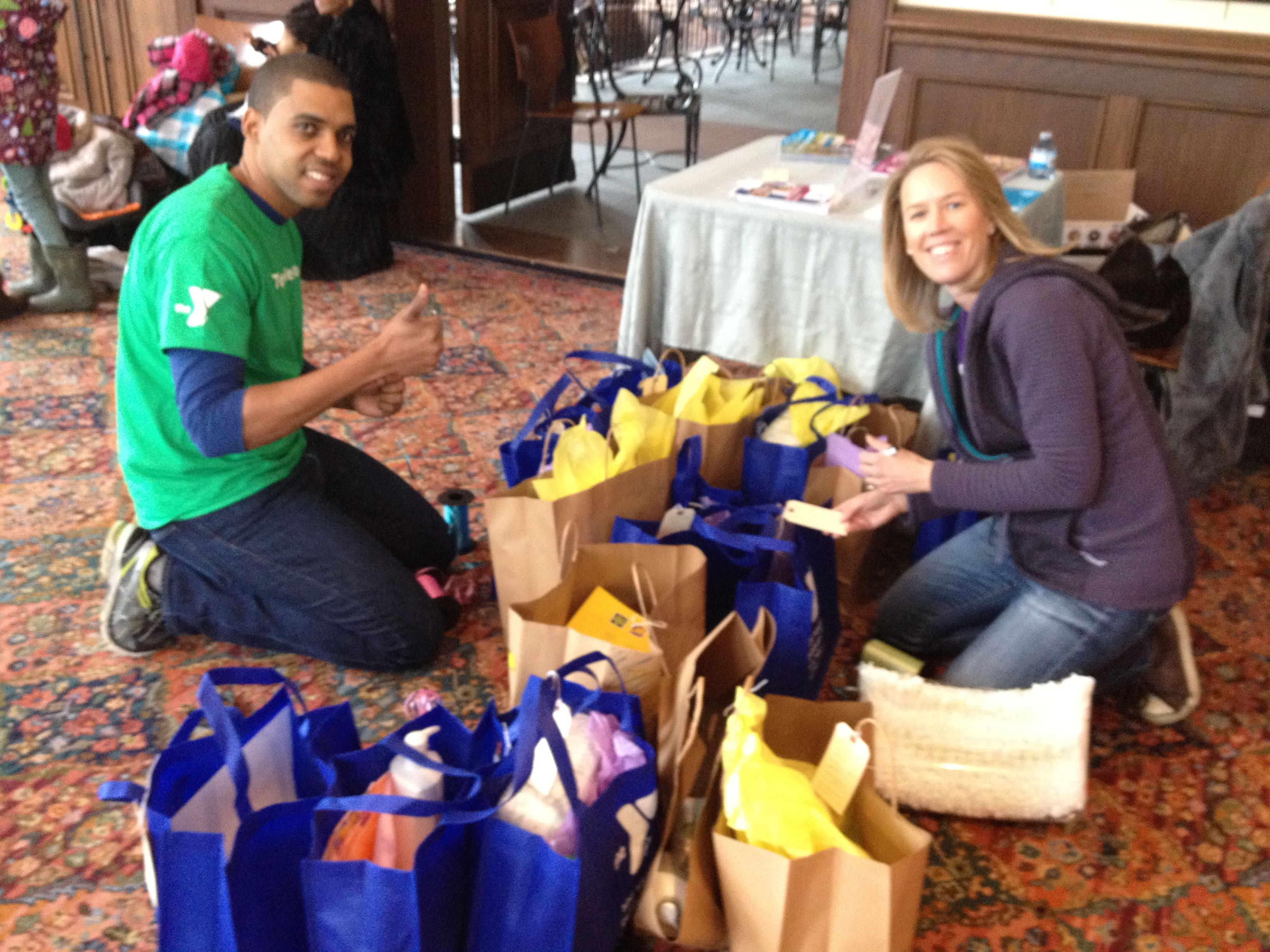 Creating Care Packages for the Women and Children of My Sisters' Place - March 2015
