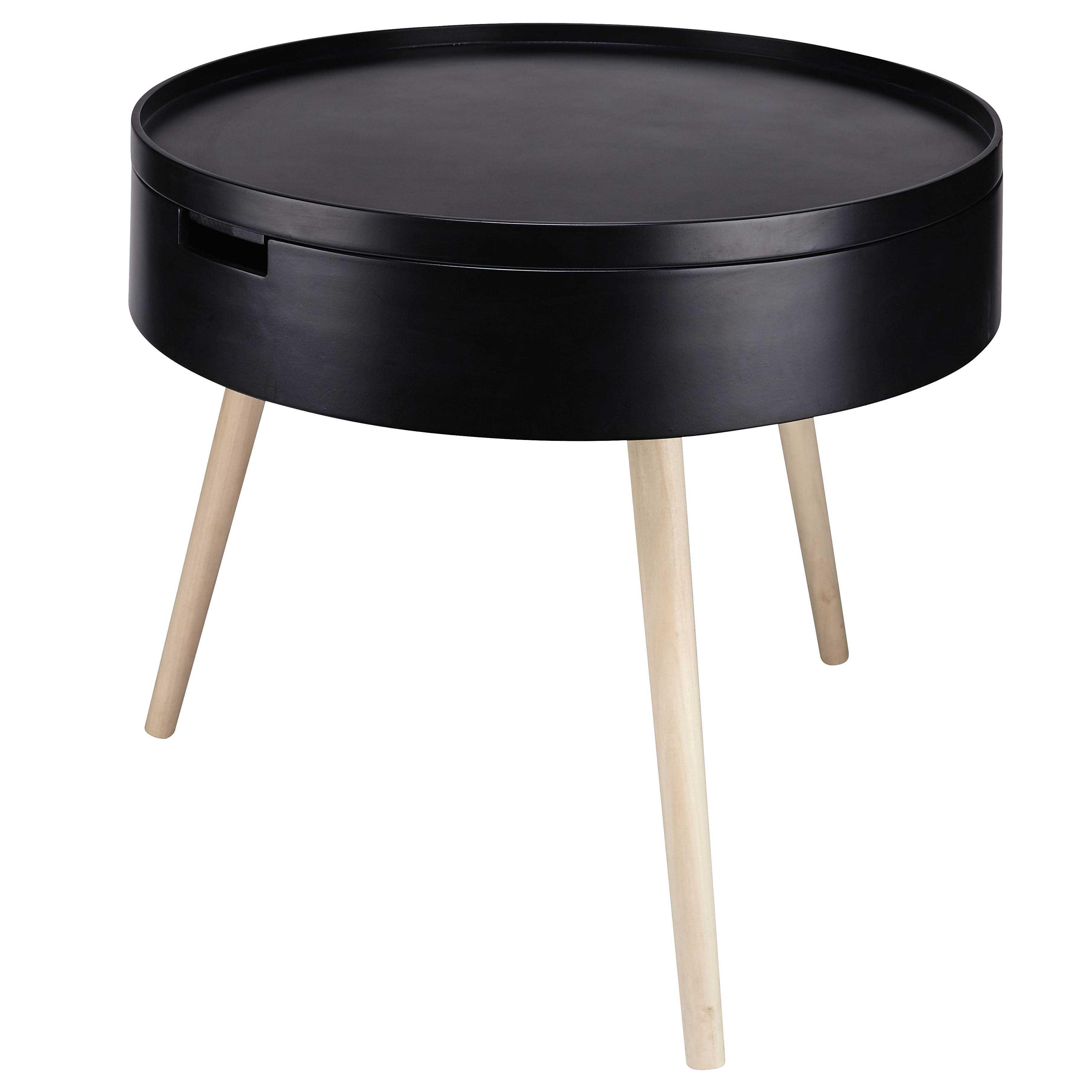 Bout De Canape En Pin Noir Maisons Du Monde Runder Couchtisch Ikea Couchtisch Rund Beistelltische