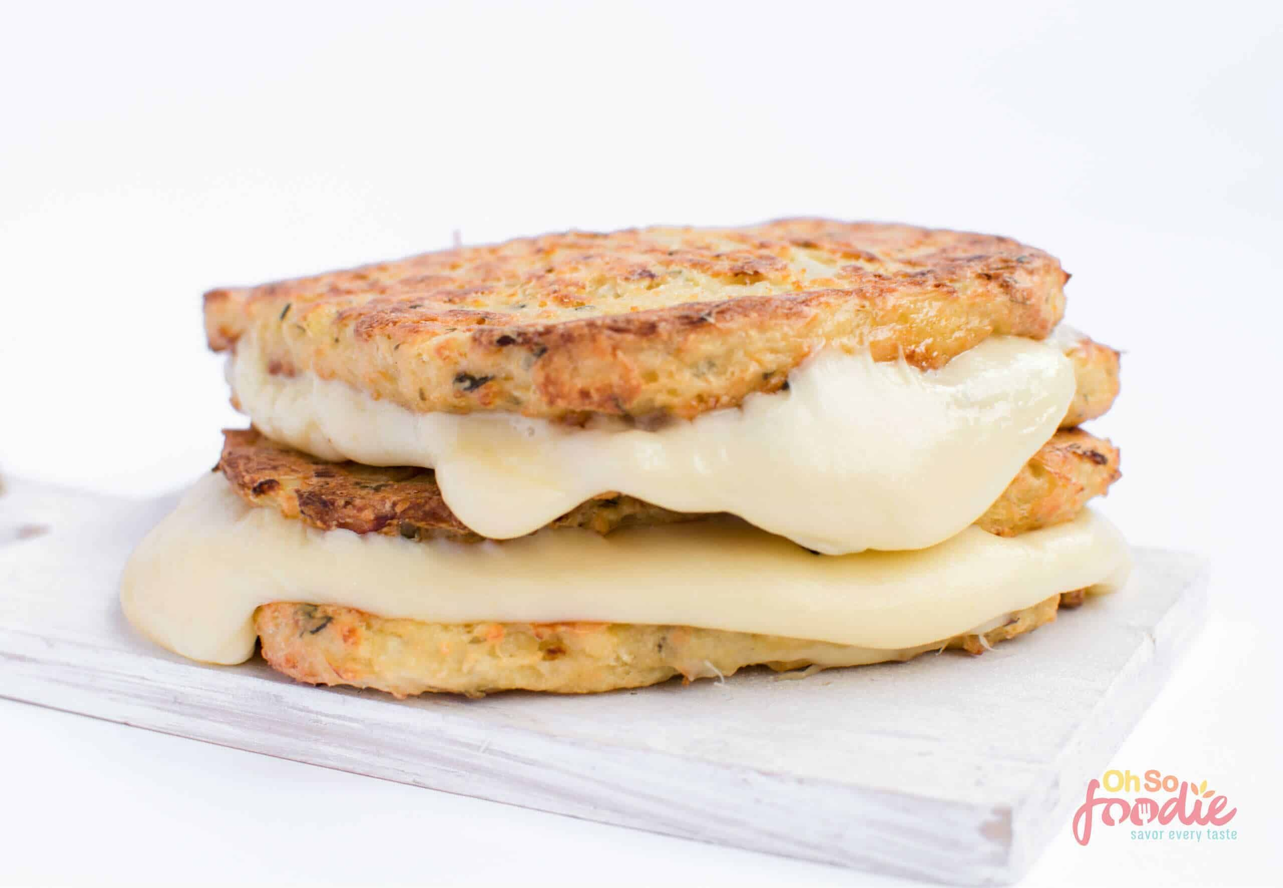 Keto Grilled Cheese Made Cauliflower Bread 5 Ingredients Oh So