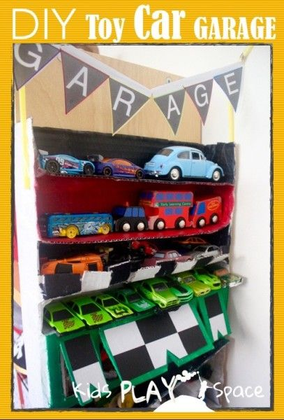 Diy Toy Car Garage Using Recycled Materials For Small Space