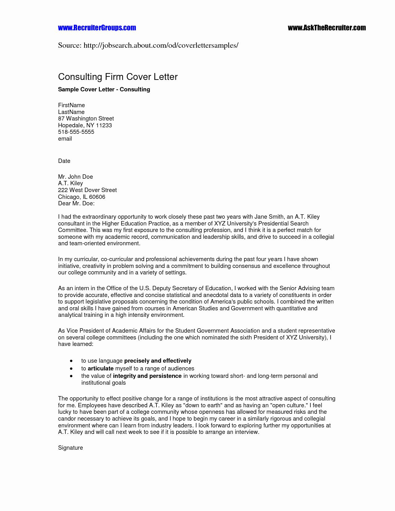 Example of a perfect cover letter example of a perfect