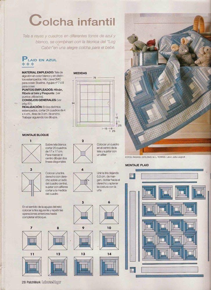 Como hacer colcha en patchwork   patchwork   Cómo hacer, Como hacer ...