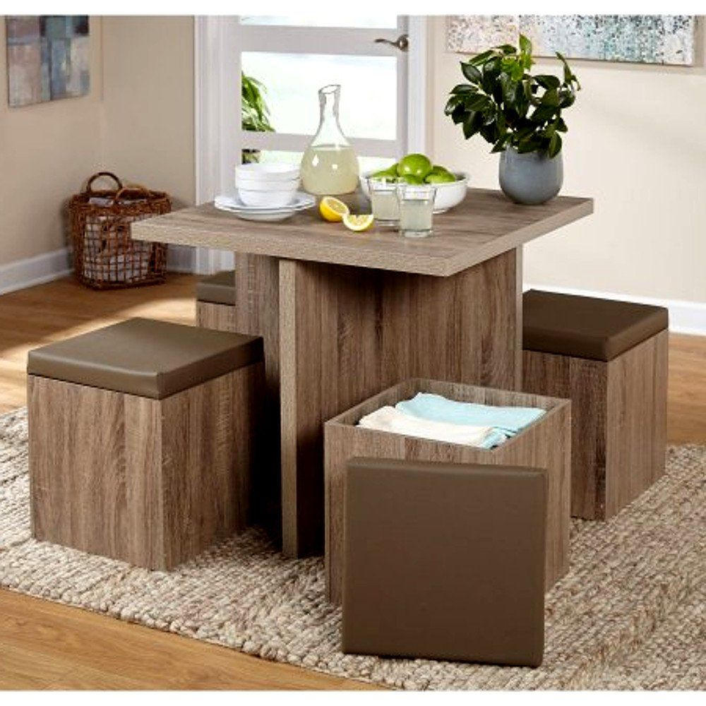 Contempary Dining Table Set For Indoor And Outdoor Combo
