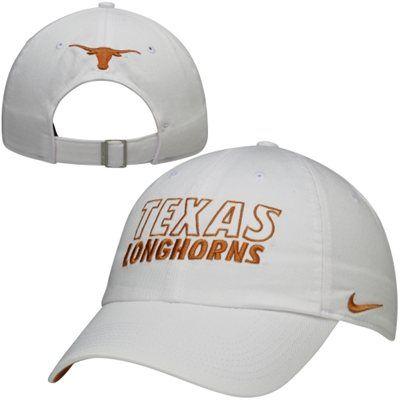 62563e2ccedb8 Nike Texas Longhorns Dri-FIT Heritage 86 Campus Adjustable Performance Hat  - White