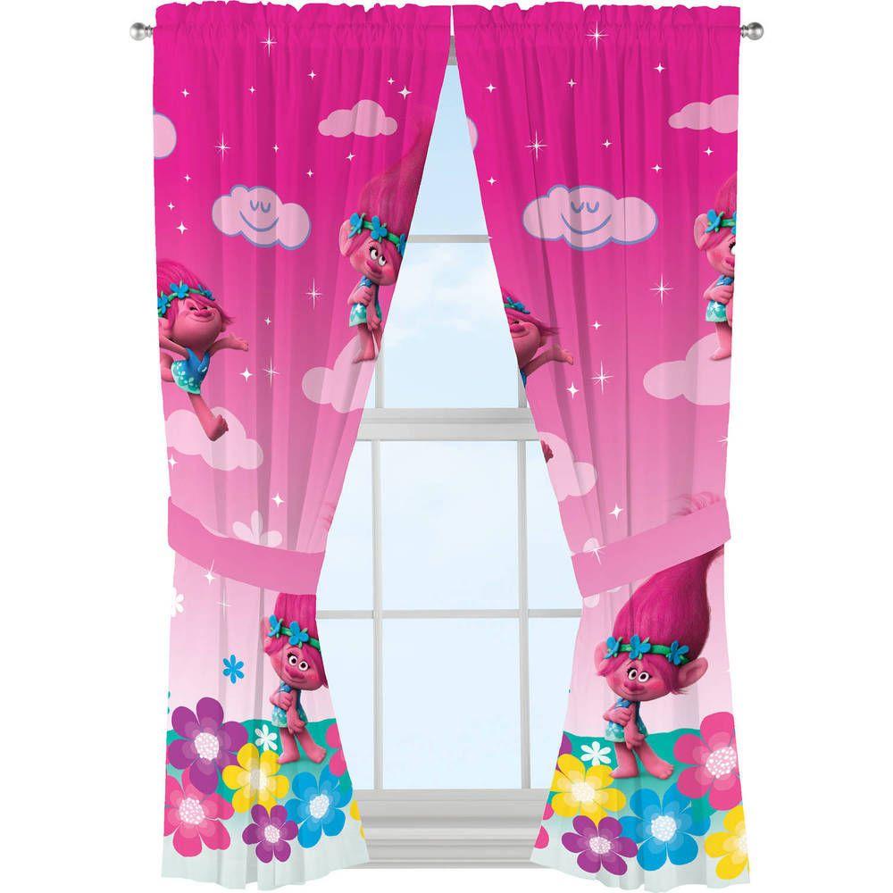 "trolls ""jumping rainbows"" window panels  room ideas"