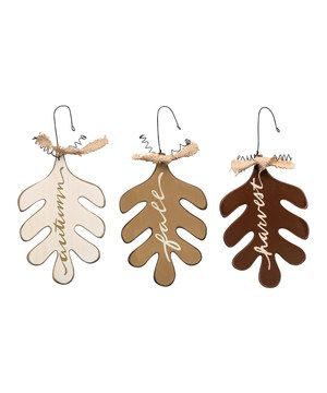 Another great find on #zulily! Fall Leaves Ornament Set by Primitives by Kathy #zulilyfinds