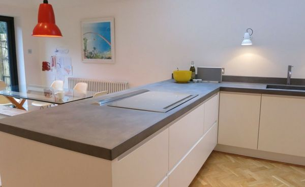 Küchenarbeitsplatte Betonoptik arbeitsplatte betonoptik moderne küche küche