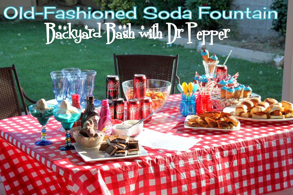 Old-Fashioned Soda Fountain Backyard Bash with Dr Pepper @ Ya Gotta Have a Hobby  #BackyardBash #shop #cbias