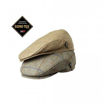 Sandringham GTX Tweed Cap is the ultimate flat cap with GORE-TEX® making it  waterproof and with retractable ear flaps to your ears warm. 828aa4503d3c