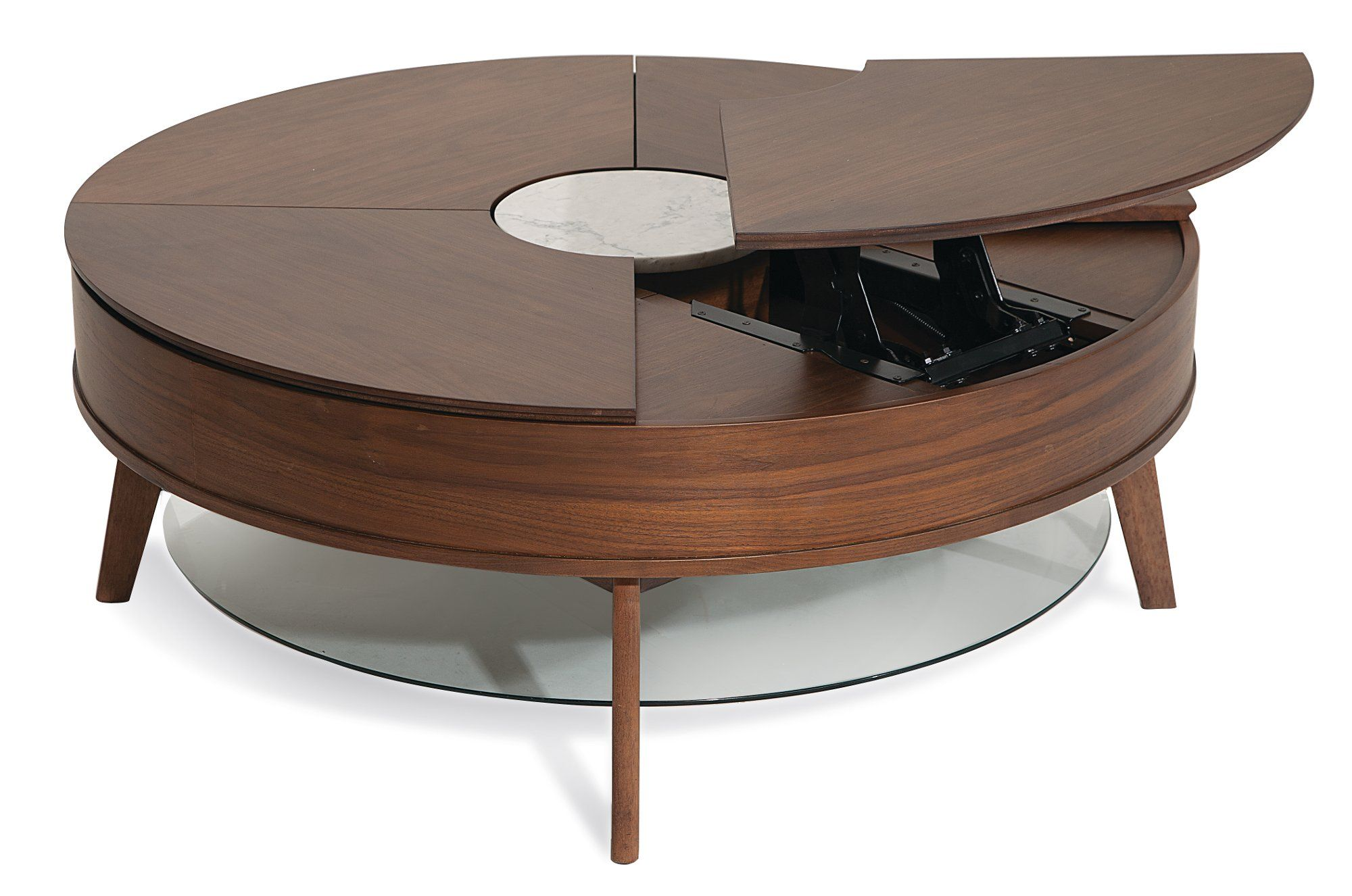 Modern Lift Top Round Cocktail Table Bellemie Round Coffee Table Modern Round Coffee Table Sets Round Cocktail Tables [ 1326 x 2000 Pixel ]