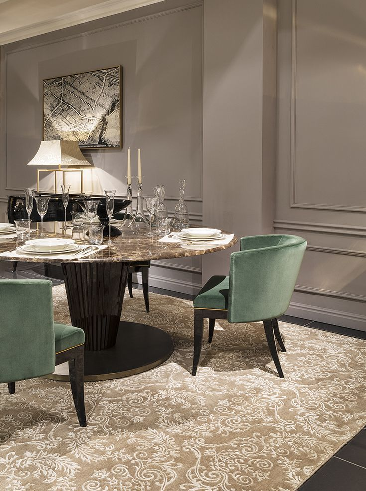 Beautiful Autumn Colors, Gold Green And Black. Royal Table, Emerald Chairs  Are The Perfect Choice For Your Dining Room. Luxury Living   The Luxury Game Home Design Ideas