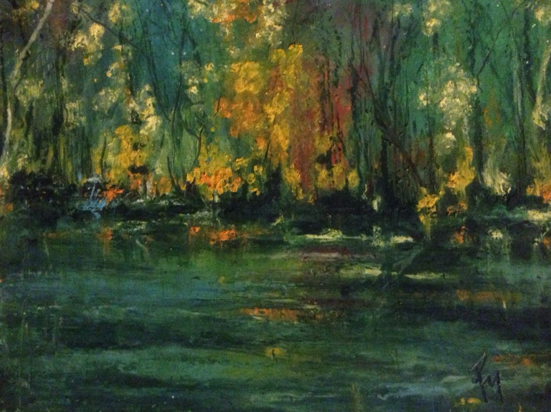 Fall On The Bayou Robincmiller Oil Pastel Oil Pastel Painting Art