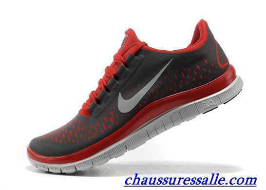 Femme Nike Free Chaussures Rouge Noir Basket Nike Free Run Femme