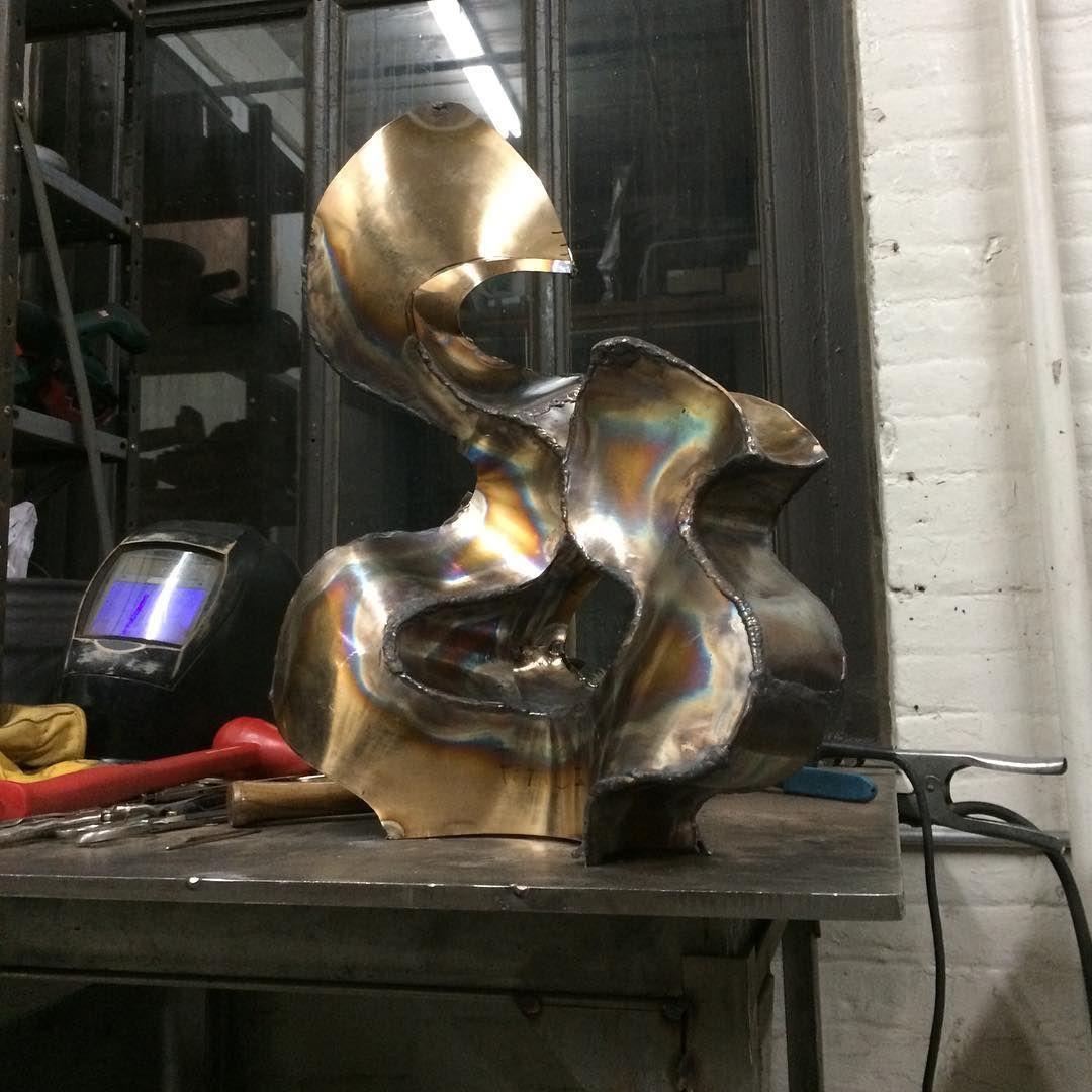 Tonight in the studio! #art #sculpture #welding #bronze  #englishwheel #metal #weld #tonight #studio #fabrication #artwork #metalwork #work #workinprogress #sculptor #artist #fabricator #sculpting