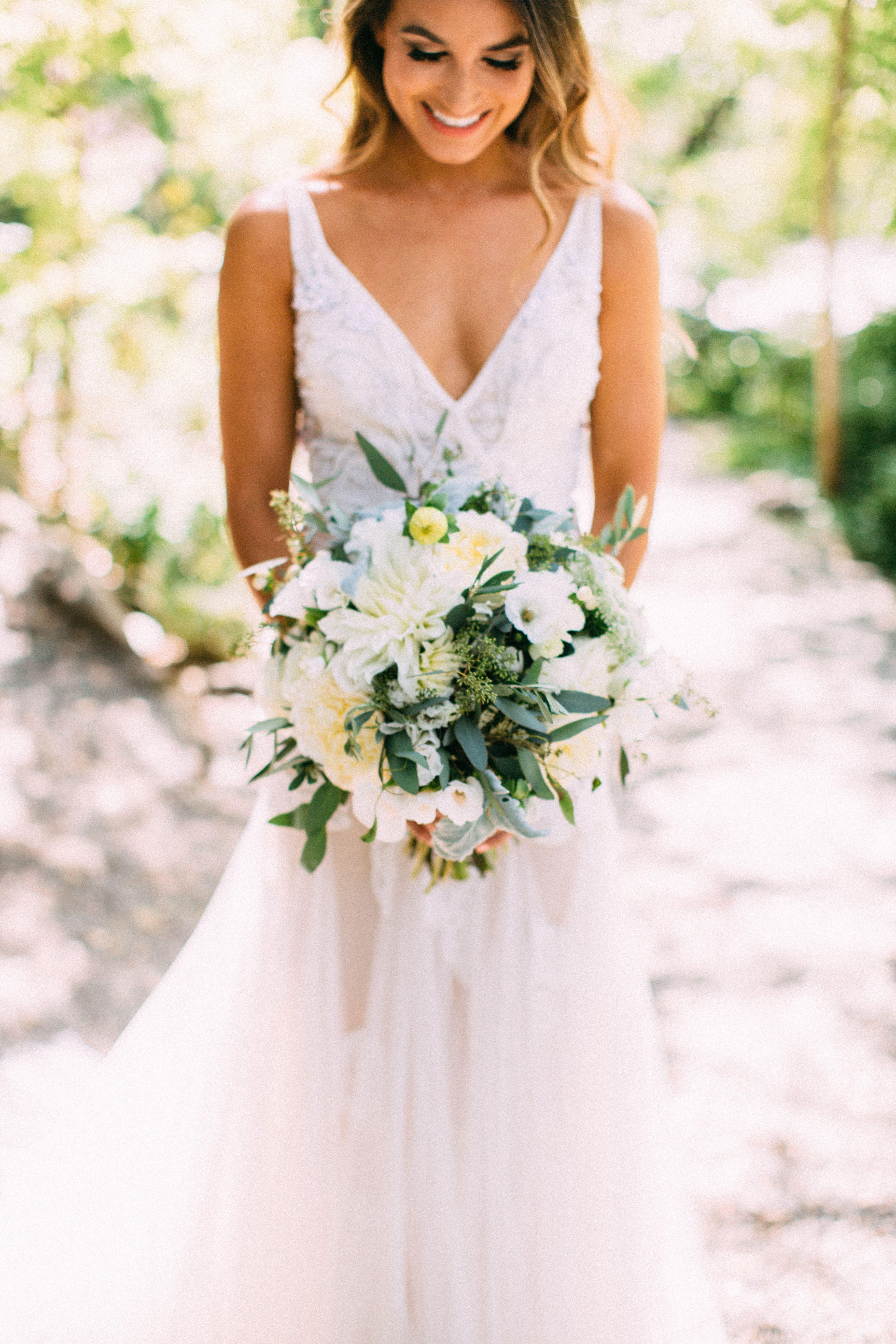 Liz martinez bridal sheer back lace applique low