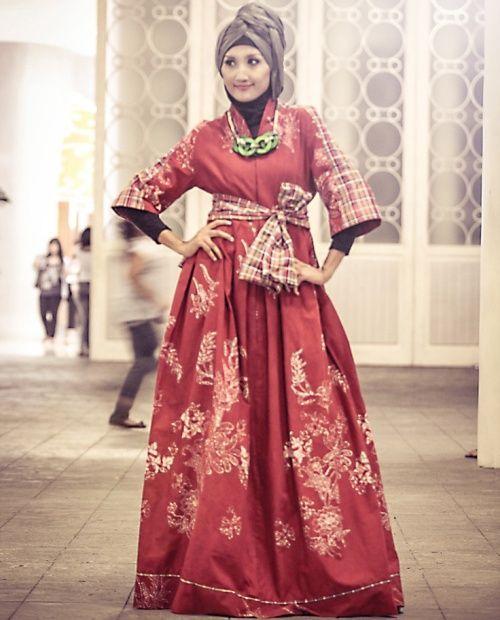 Model Gamis Batik Modern Busana Muslim Pinterest Batik Muslim