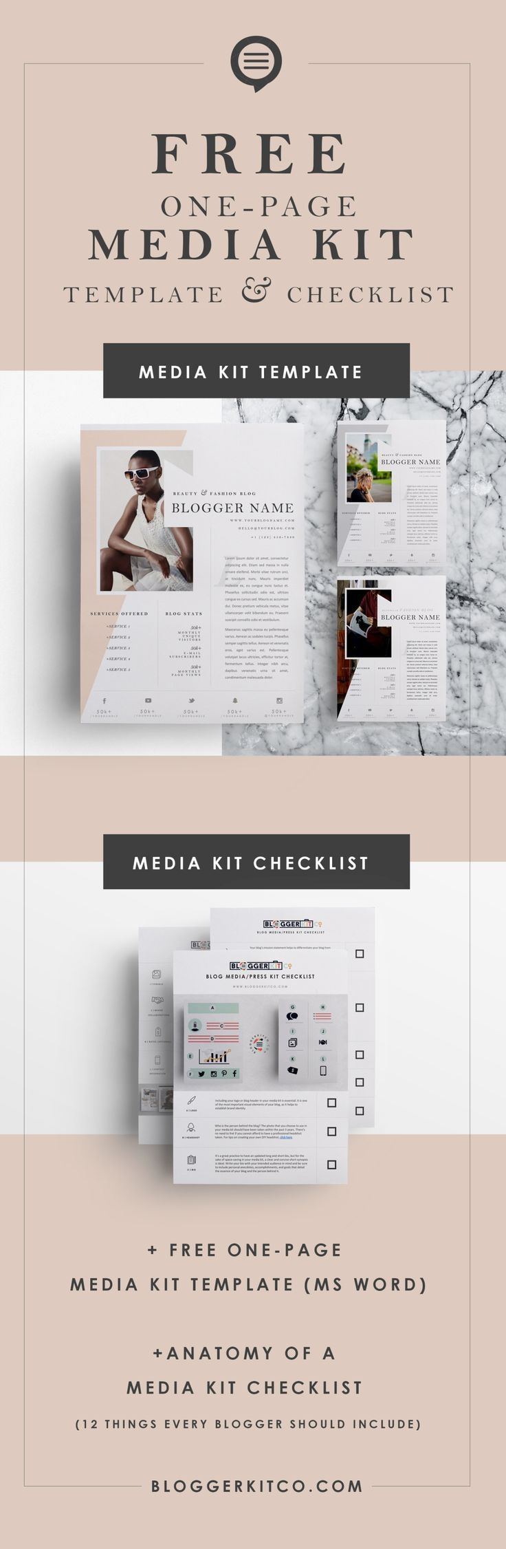 Need a Media Kit? Here\'s a Free Media Kit Template + Checklist for ...