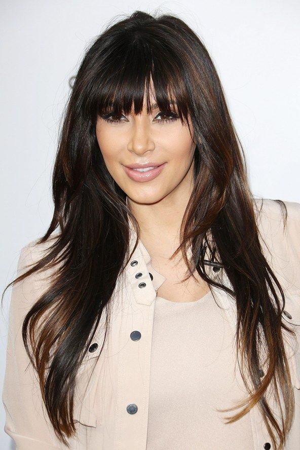 kim kardashian bangs - Recherche Google | THAT hair! | Pinterest