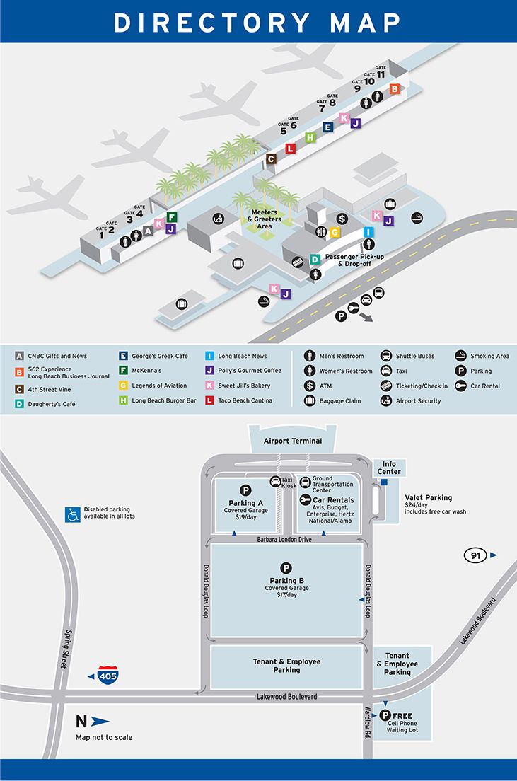 Lgb Airport Map Pin by Long Beach Airport on Long Beach Airport | Long beach