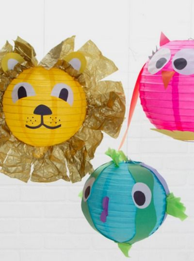 How Cute Is This Animal Lantern Craft The Perfect Summer Diy For