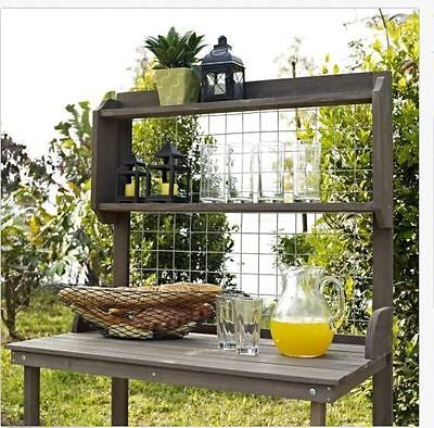 Potting Bench With Storage Garden Workbench Workspace Table Hanging Grate Plant Potting Bench Affordable Outdoor Furniture