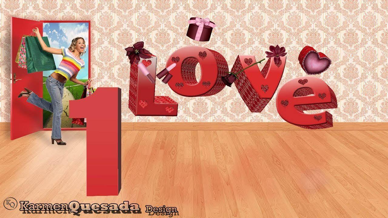 Tutorial Photoshop: Amor en 3D 1ª Parte (Texto Repujado)