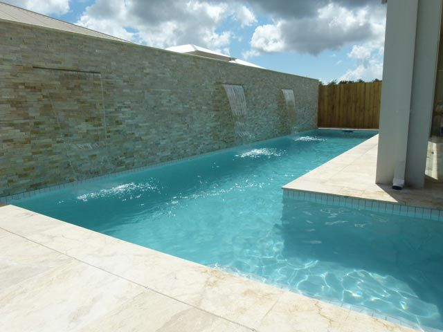 Water Featured Gold Coast Swimming Pools Gold Coast By Design Pools Gold Coast Water Features Small Pools Pool Designs