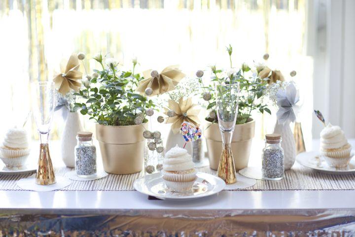 Gold And Silver Wedding Centerpieces - Unique Wedding Ideas