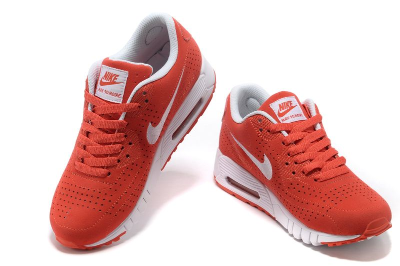 3364cc5d99c1 Best Nike Air Max 90 Current Moire x Air Zoom Moire Womens Orange Red White  344081 013  Red  Womens  Sneakers