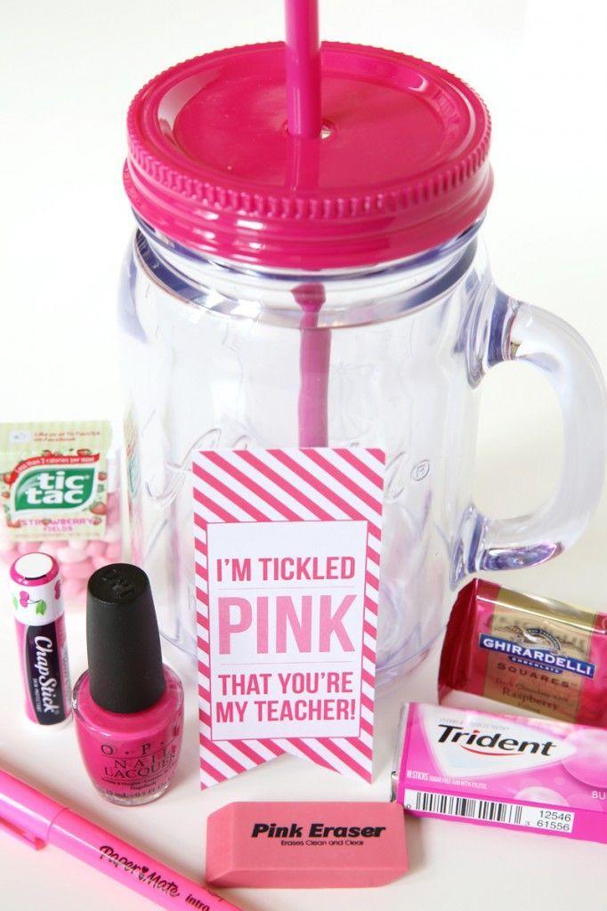 DIY Teacher Gift: Tickled Pink | First Day | Pinterest | Geschenke ...