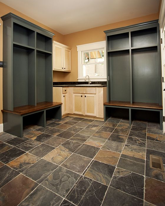 See More Photos Of Ungauged Slate Mudroom & Bath