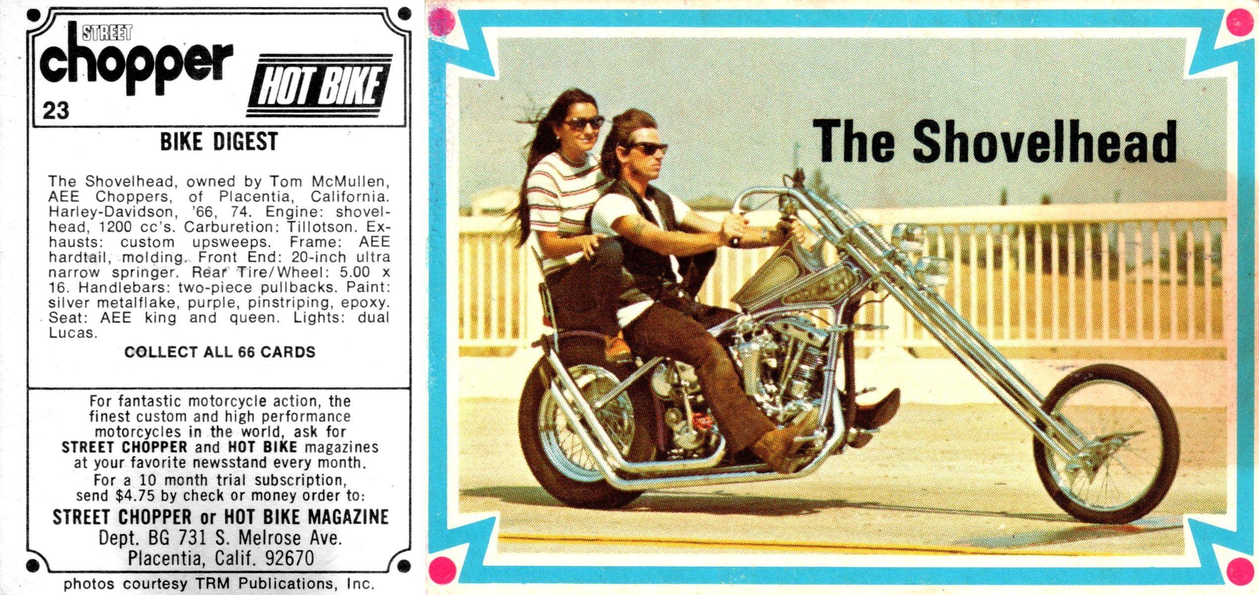 Card 23 Cards Hot Bikes Placentia