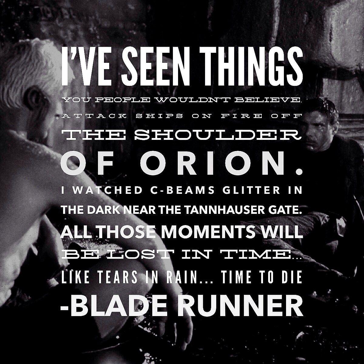 Resultado De Imagen Para Blade Runner Tears In Rain Quote