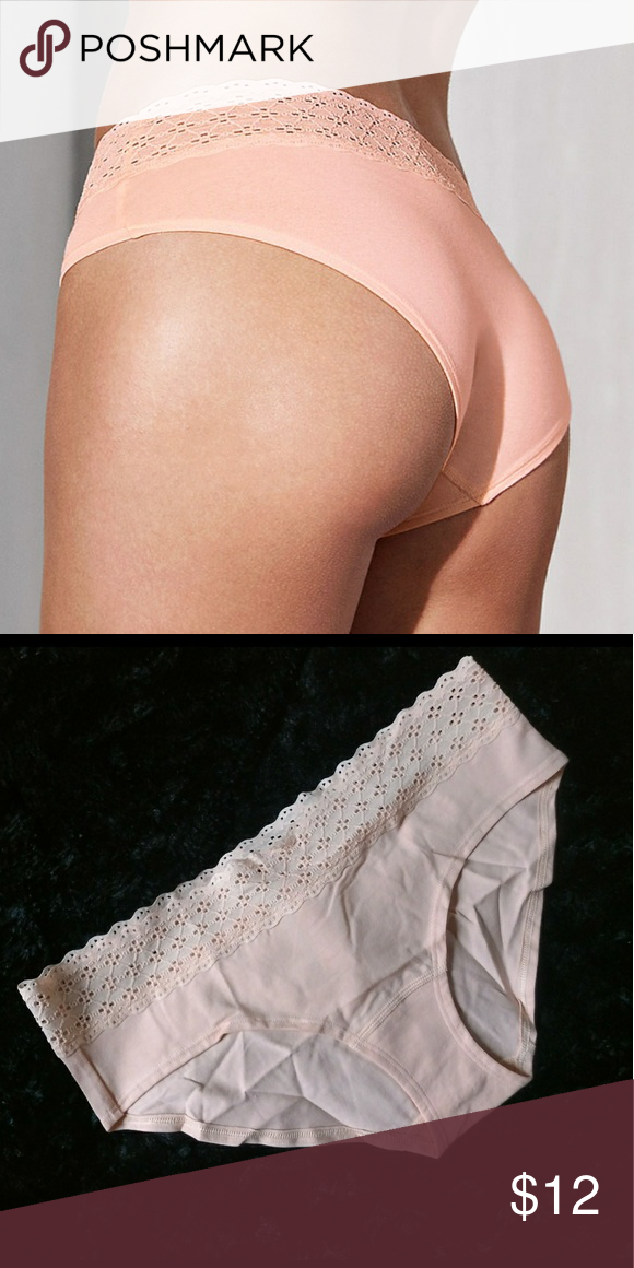f50a81c311f Victoria s Secret Underwear Bundle Victoria s Secret Cotton Lingerie Lace  Waist Hiphugger Panty Large   Cotton Lingerie String Bikini Large Color  Peach ...