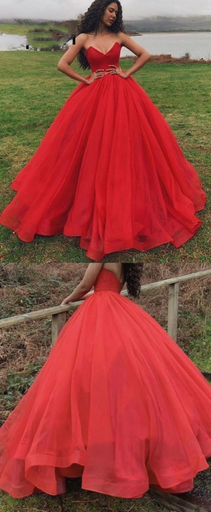 Rotes Ballkleid quinceanera Kleid en 2020   Robe de bal ...