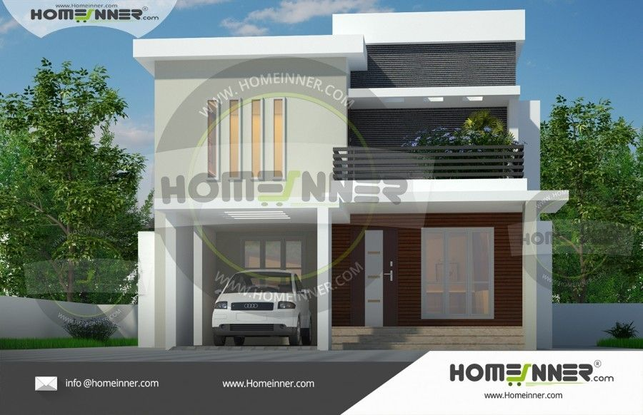 3bhk Contemporary Home Part - 21: 3BHK Modern Stunning Home Elevation