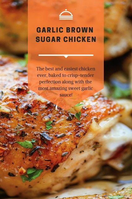 BROWN SUGAR CHICKEN INGREDIENTS:  8 bone-in, skin-on chicken thighs Koshe... - deliciousness -GARLI