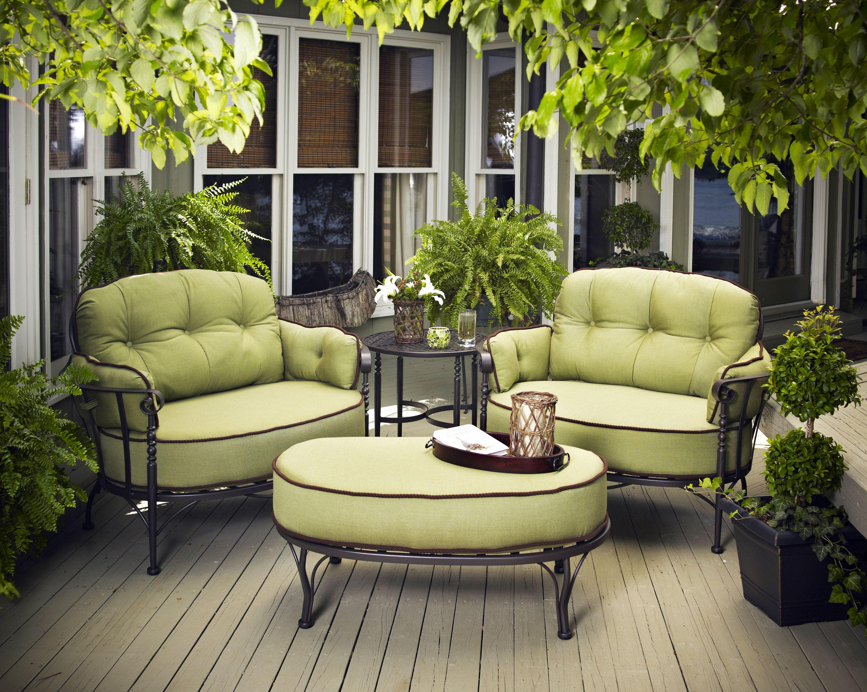 Meadowcraft Athens Outdoor Cuddle Chair At Miskelly Furniture