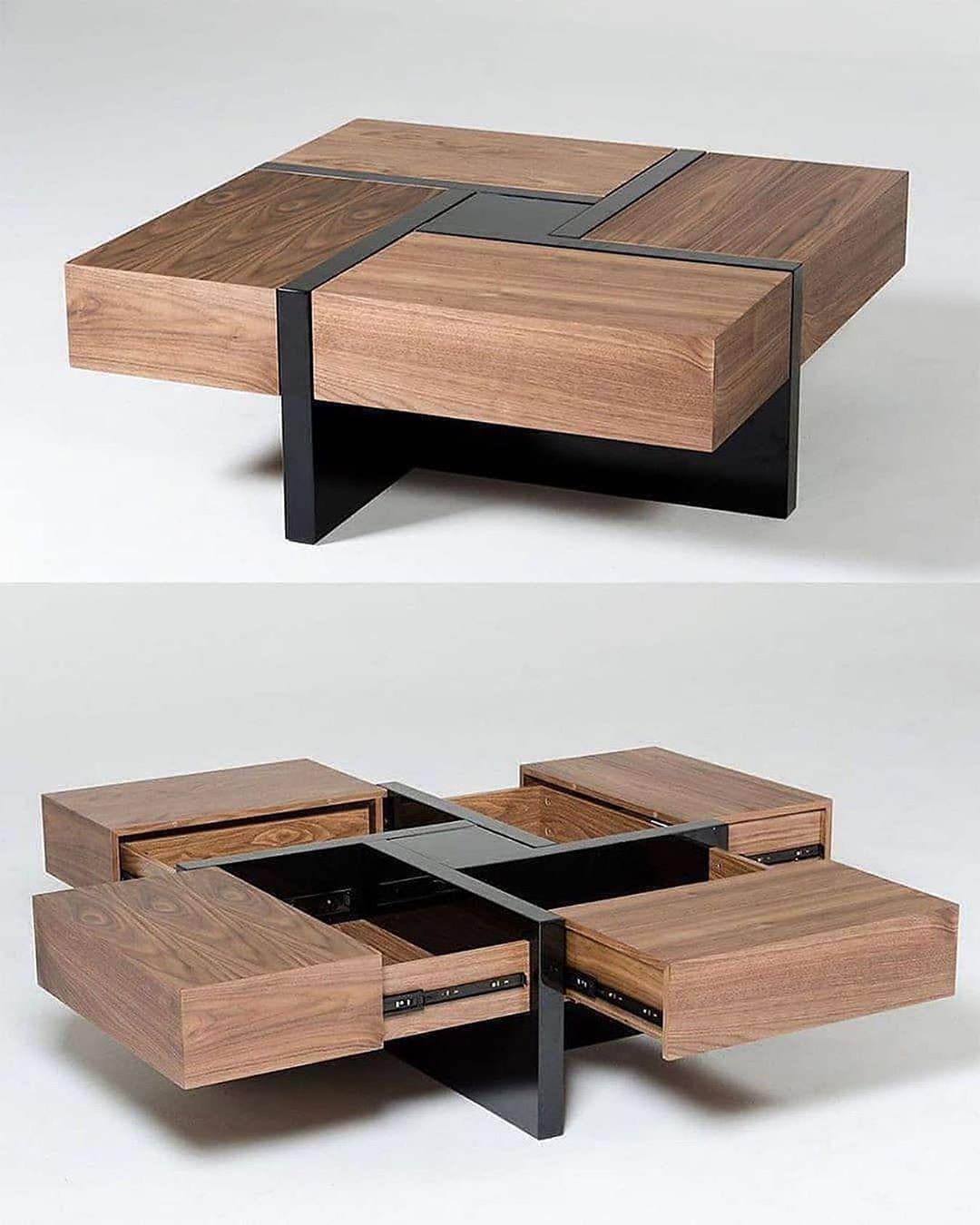 Fanciest Products On Instagram Coffee Table Via Homeadore Follow Us Fanciest Products Coffee Table Wood Coffee Table With Drawers Wood Table Design [ 1350 x 1080 Pixel ]
