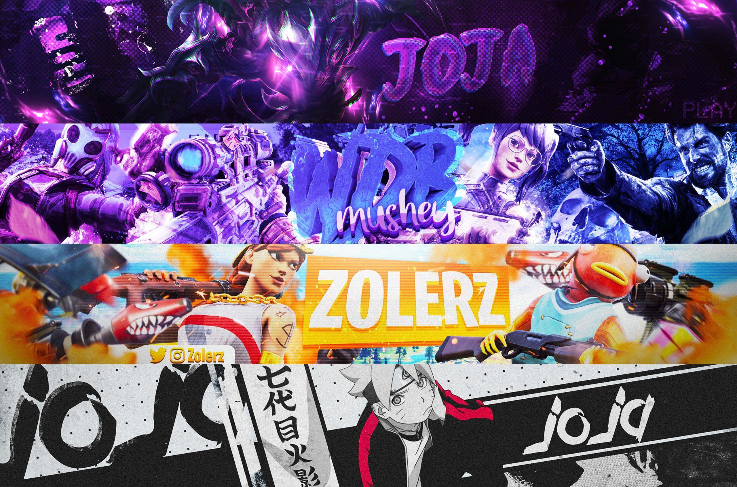 I will design gaming or anime banner for youtube twitter