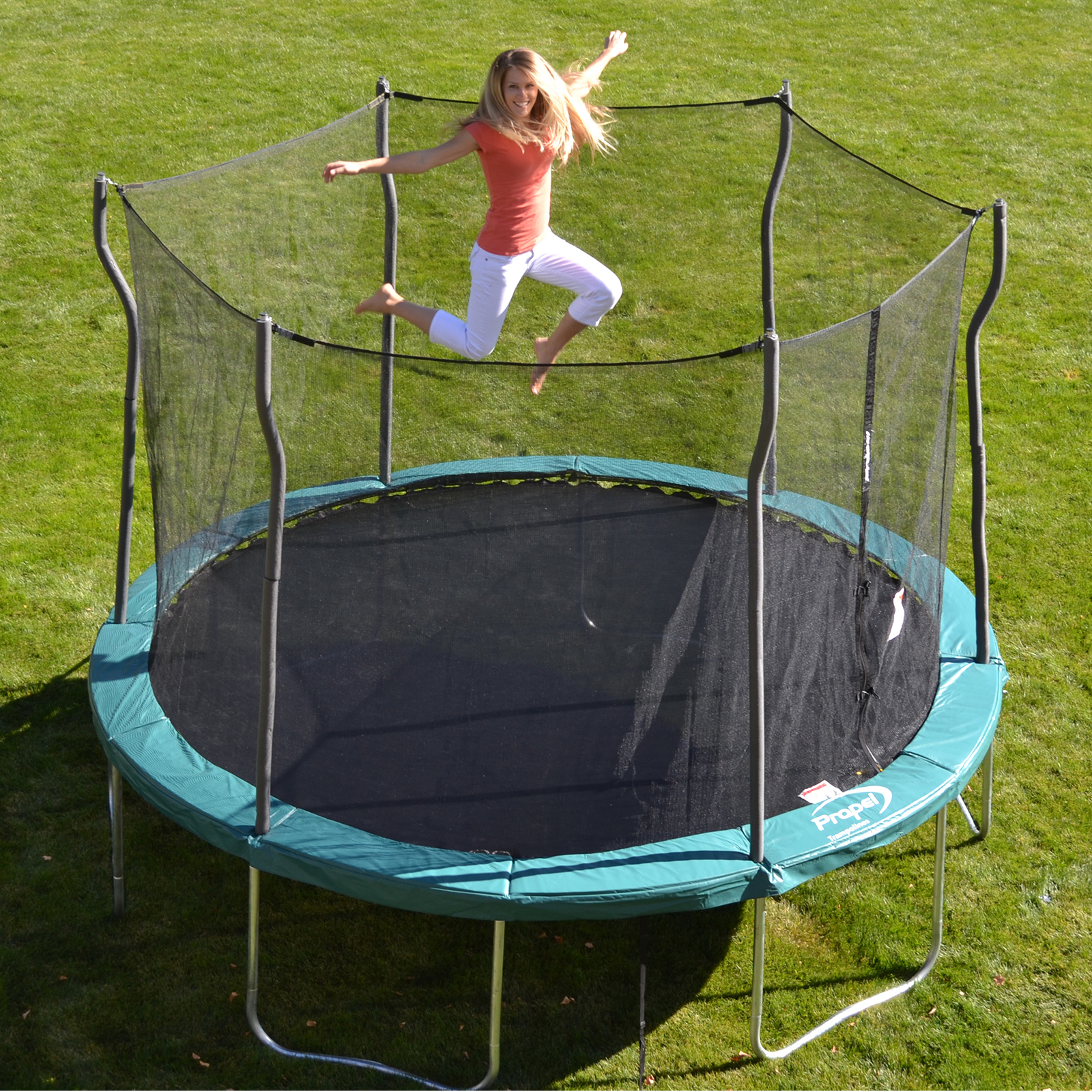 Propel Trampolines 12 Trampoline With Enclosure 199 99 Was 349 99 In 2020 Trampoline Enclosure Backyard Trampoline Enclosed Trampoline