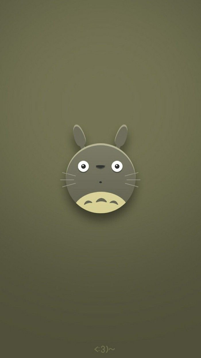 Totoro minimal iphone wallpaper iphone wallpapers - Totoro wallpaper iphone ...