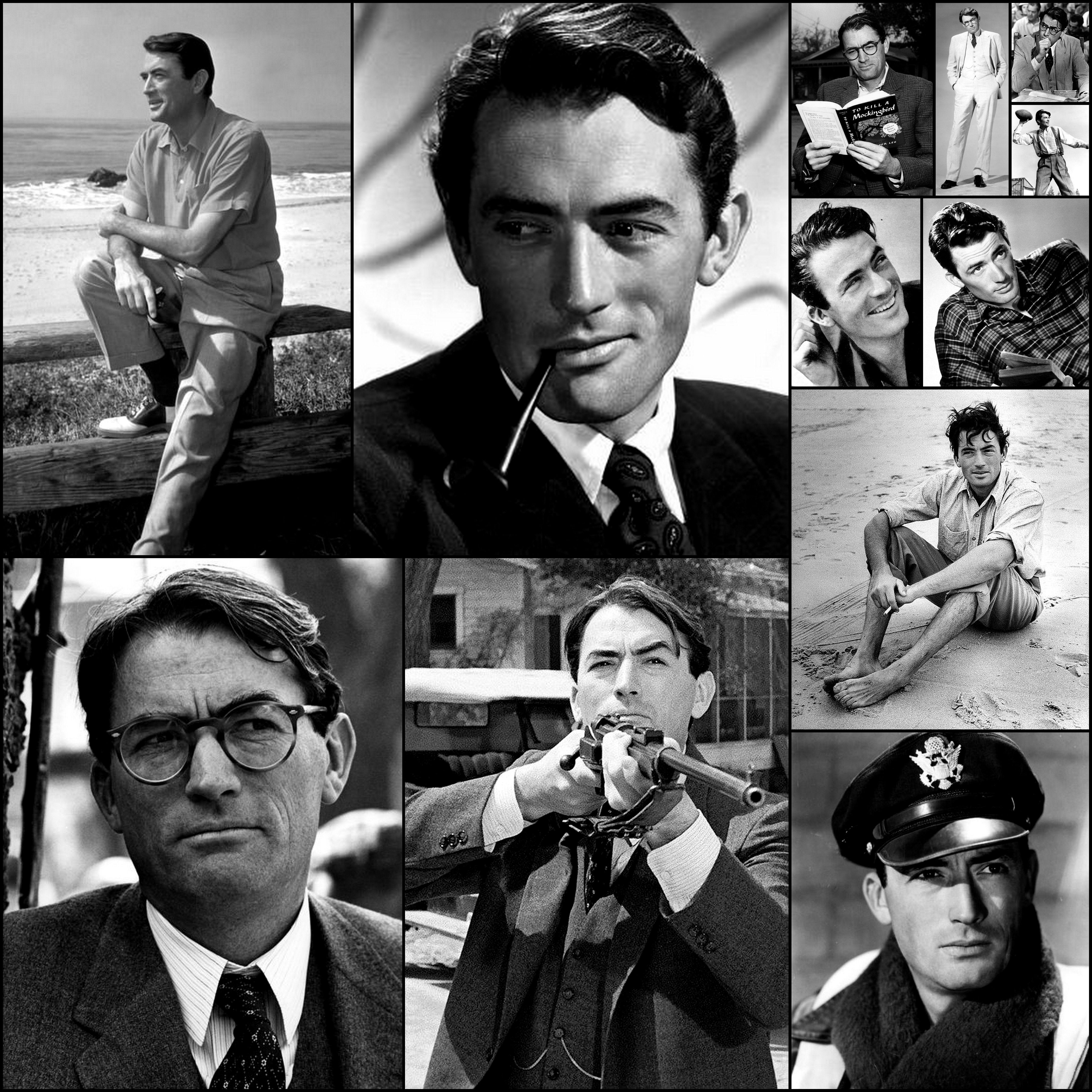 Gregory Peck Picture Collage Actors Actors Actresses Film